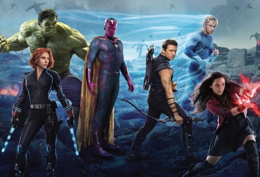 Hulk, Viúva Negra, Visión, Ollo de Falcón, Mercurio e Bruxa Escarlata