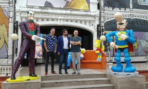 Manel Cráneo e Miguelanxo Prado na presentación de Viñetas desde o Atlántico