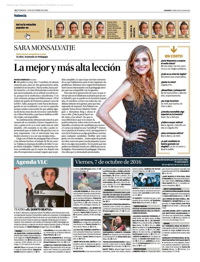 páxina do diario Levante