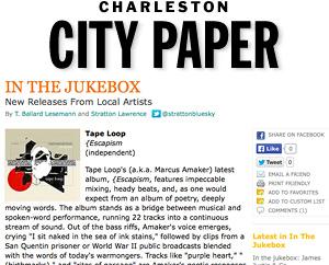 CD review: Escapism. Charleston City Paper, Nov. 2006
