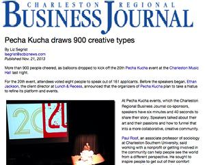 Pecha Kucha draws 900 creative types Business Journal, Nov. 2013