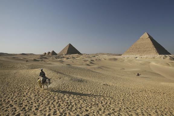 the pyramids of Ghiza