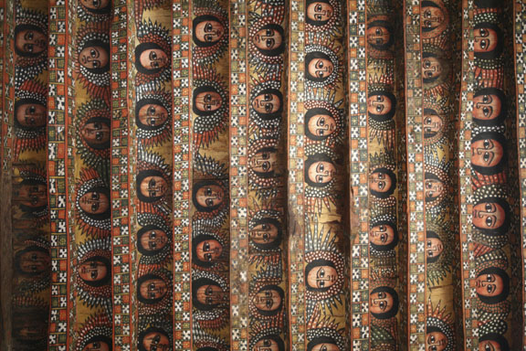 the ceiling of a church in Gonder