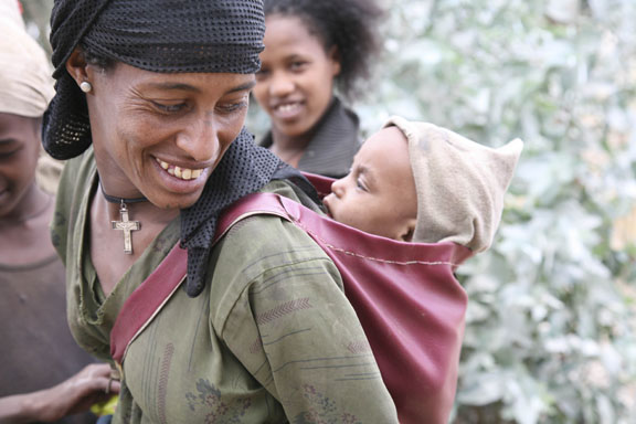 mother and child, central Ethiopia