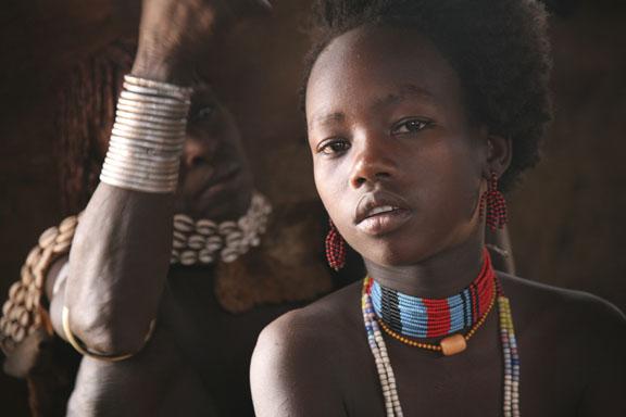 Hamer girl, near Turmi, Ethiopia