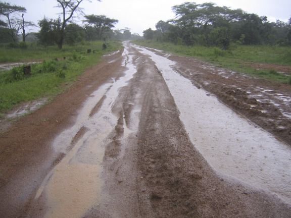 the road from Kigoma to Mbeya, Tanzania