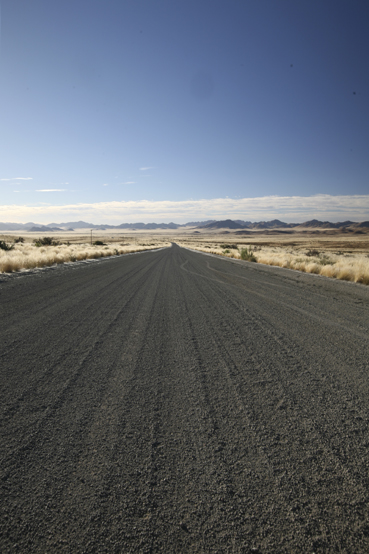 a typical Namibian highway