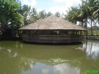 The biggest floating hut in the resort.