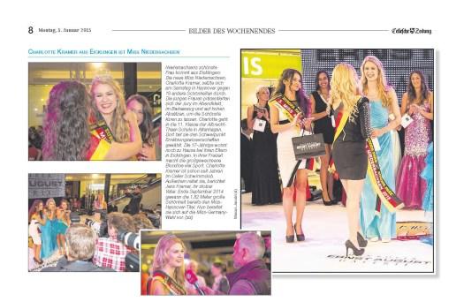 Miss Niedersachsen 2015 Charlotte Kramer