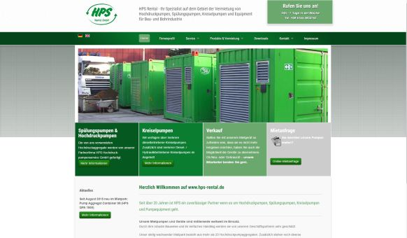 HPS Rental - Vermietung Pumpcontainer bundesweit