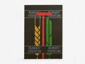 Marcus Kleinfeld, BUNDESEIGENTUM I, 2011 Acrylic on military wool blanket 170 x 140 cm