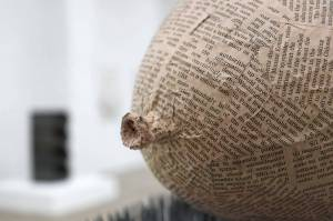 Marcus Kleinfeld, FORCES, 2011 Plaster, nails, newspaper 25 x 43 x 34 cm