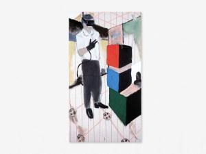 Marcus Kleinfeld, HISTORY, 2006 Acrylic on industrial textile 80 x 160 cm