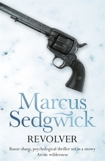 UK cover of Revolver showing a Colt revolver on the ice.