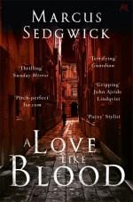 UK cover of A Love Like Blood showing dark Roman street.