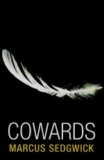 Cover of Cowards with an image of a white feather on a black background.