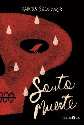 Cover of the Italian edition of Saint Death, Santa Muerte, showing a red skull on a black background