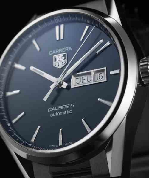 Tag Heuer Carrera Day-Date Automatisk Blå Skive Stål 41 MM-WAR201E.BA0723 1