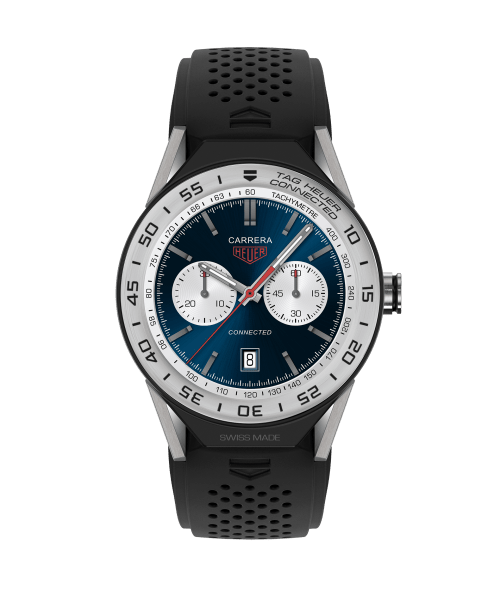 Tag Heuer Connected Sort Gummi 45 MM - SBF8A8014.11FT60
