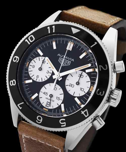 Tag Heuer Heritage Autavia Chronograph Automatisk Sort Skive 42 MM-CBE2110.FC8226 1