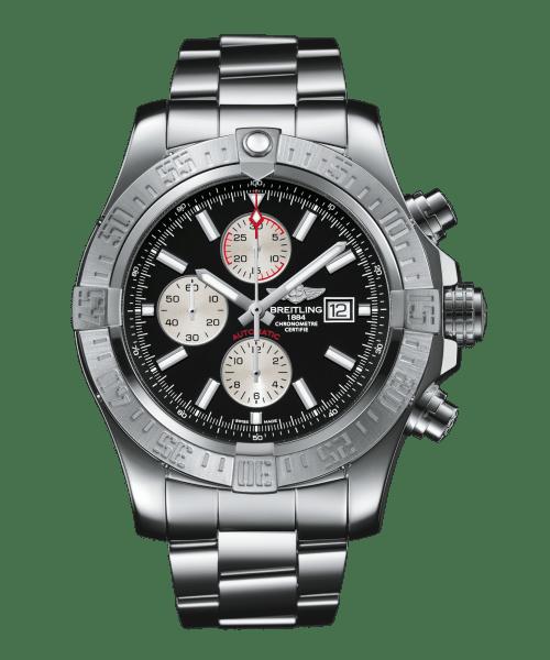 Breitling Super Avenger II Chronograph Automatisk Sort Skive Stål 48 MM A1337111-BC29-168A