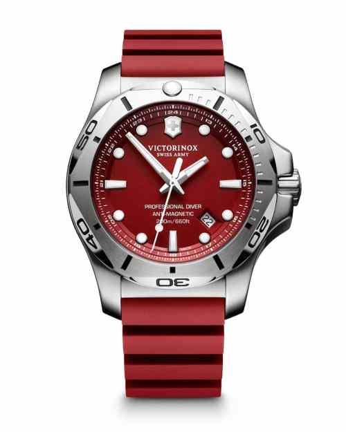 Victorinox I.N.O.X Professional Diver Quartz Rød Skive Rød Gummirem 45 MM V241736