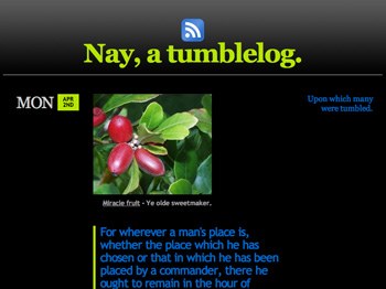 Nay, a tumblelog