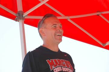 Coach T, in a happy place
