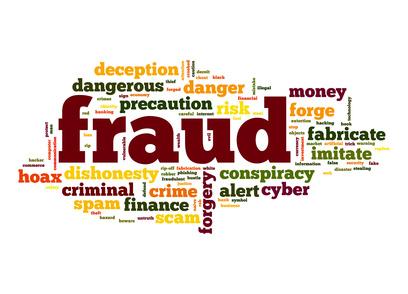 Fraud word cloud