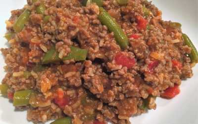 Easy Ground Beef & Rice Skillet