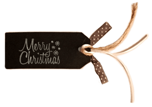 Merry Christmas Gift Tag Back