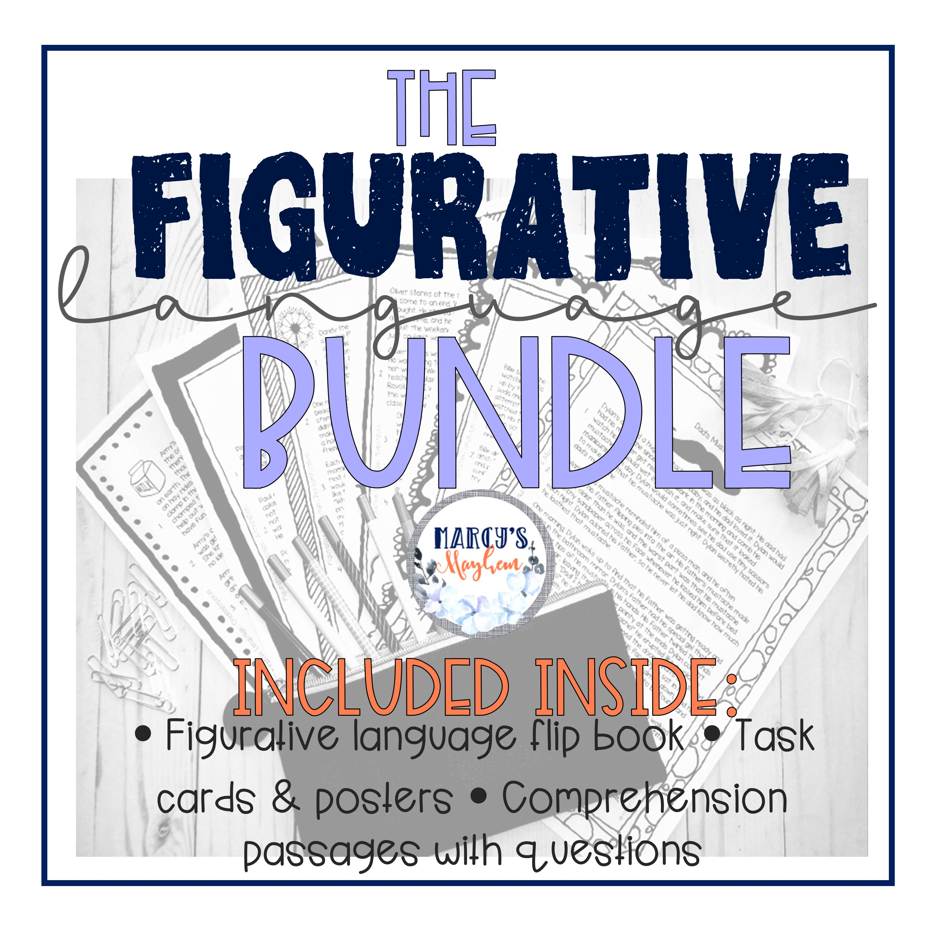 - Figurative Language Comprehension Passages, Task Card Activity And