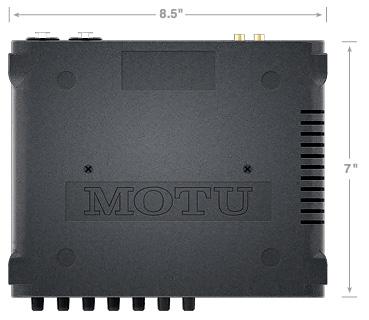 motu 4pre usb audio interface - top