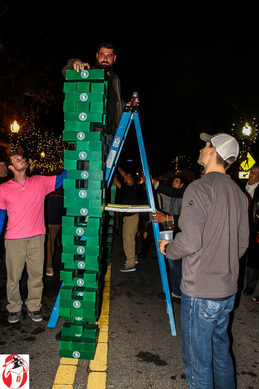 Giant Jenga on Palafox Street