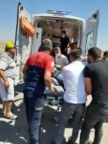 Mardin'de tır şarampole uçtu:1 yaralı