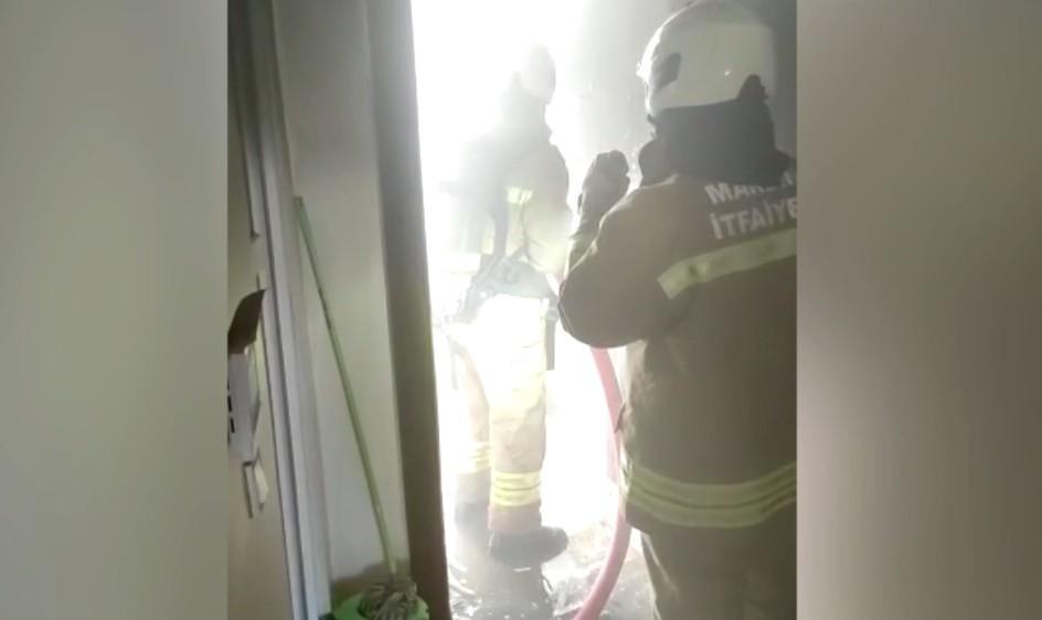 Mardin'de 8 katlı apartmanda çıkan yangın ucuz atlatıldı