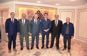 Kaymakam Öztürk'e Artvin Çoruh Üniversitesi hocalarından ziyaret