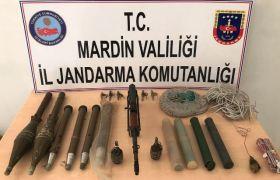 Dargeçit'te terör örgütü PKK'ya ait mühimmat ele geçirildi