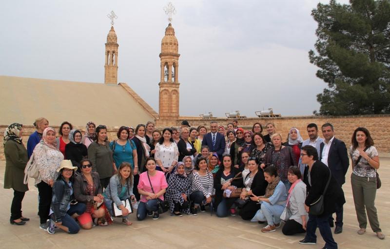 Midyat'ta Avrupa'dan turist sevinci