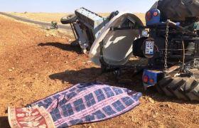 Nusaybin'de traktör devrildi: 1 ölü