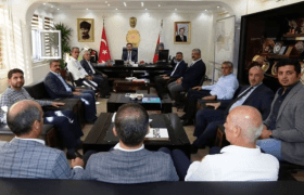 Ak Parti'den Emniyet  Müdürlüğüne Taziye Ziyareti