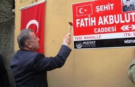 Şehit Akbulut'un ismi caddeye verildi
