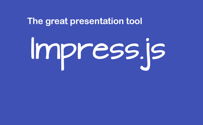 Add Menu to Impress.js presentation