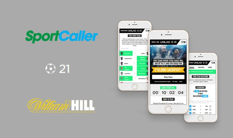 SportCaller extends partnership with William Hill for Football21