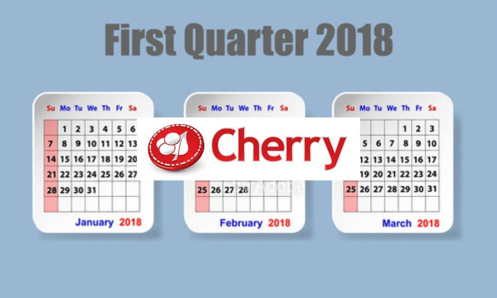 Cherry AB's first quarter 2018