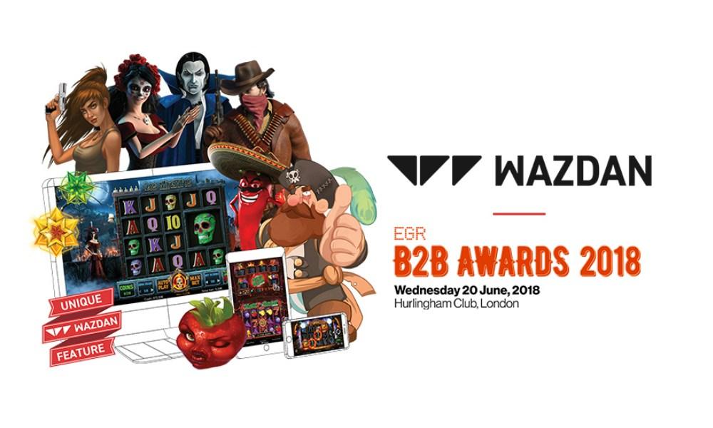 Wazdan shortlisted for EGR B2B Awards