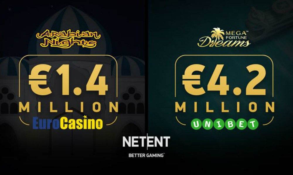 NetEnt games deliver more seven-figure prizes through Arabian Nights™ and Mega Fortune Dreams™