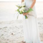 mariage, plage bouquet,