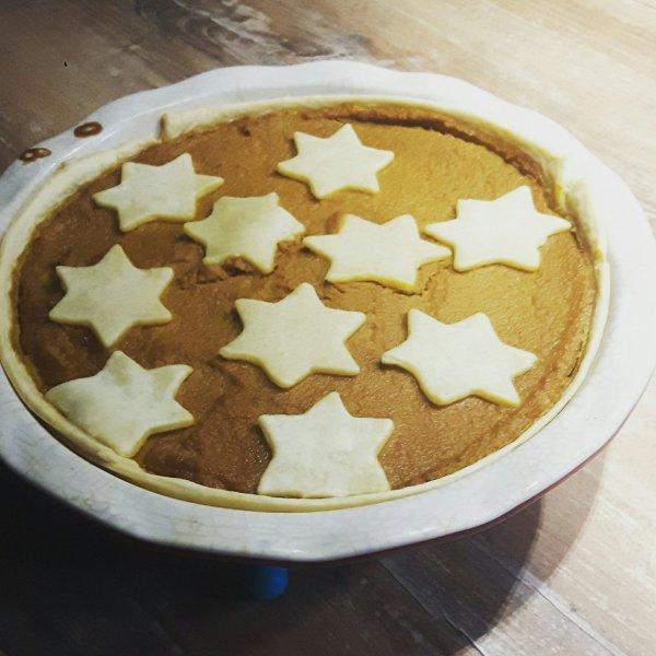 Low-sugar pumpkin pie