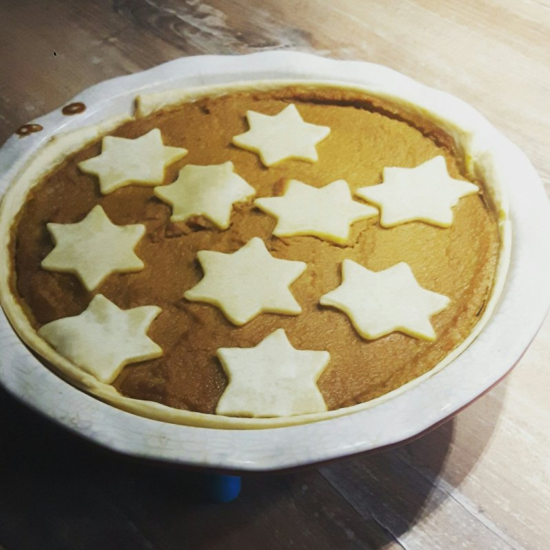 Low-sugar pumpkin pie
